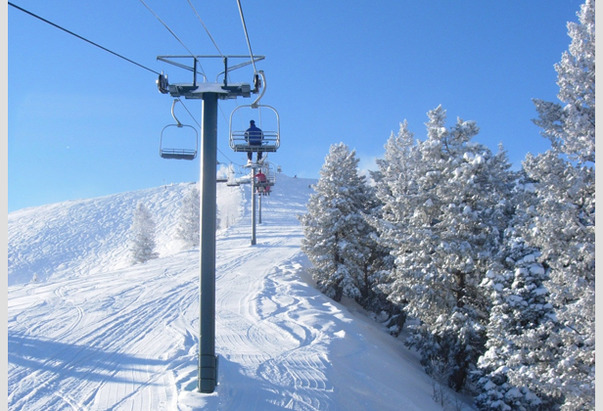 Ski in and ski out is one thing, but your own private lift? That's a luxary only a few skiers have.  - ©Sundance Resort