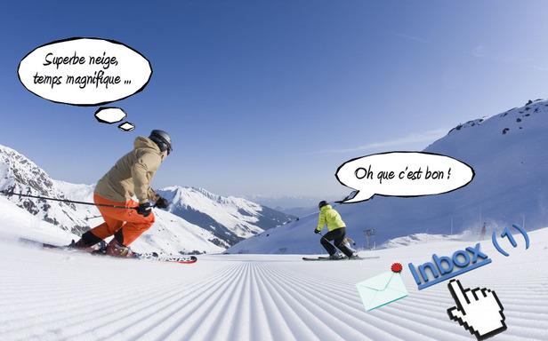 L'abonnement au bulletin d'enneigement par email, le meilleur moyen de suivre les conditions de ski de vos stations favorites jour après jour... - ©Skiinfo