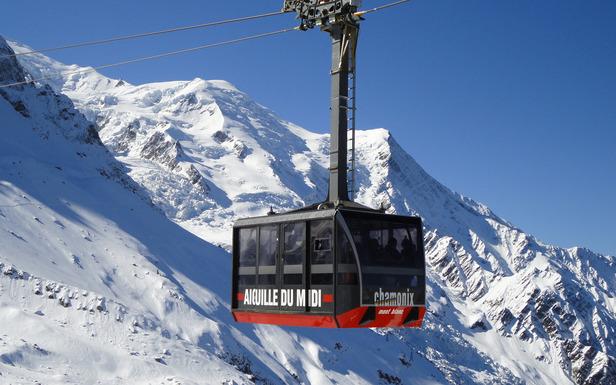 Seilbahn am Aiguille du Midi - ©Compagnie du Mont-Blanc