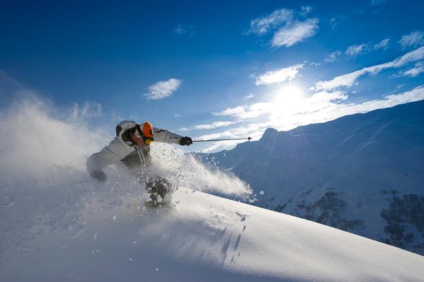 Conditions de ski idéales sur les pentes des Menuires - ©OT des Menuires