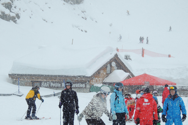 Fresh snow in Flaine, March 18, 2013