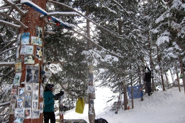 The Hunter S. Thompson Shrine at Snowmass Mountain. - ©Amanda Rae