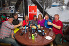 Cheers to our awesome ski testers at the well-deserved après party.   - Cheers to our awesome