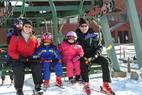 Wild Mtn MN Frischmon family on lift - Frischmon family on chairlift