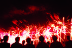 Ski Granby Ranch, CO fireworks - Visitors watching fireworks at