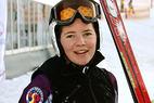 Tina Weirather Junioren-Weltmeisterin in der Abfahrt - ©G. Löffelholz / XnX GmbH