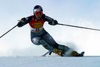Renate Götschl rast zum Sieg in Lake Louise - ©Peter Lehner