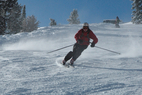 Sun Valley - A skier catches speed