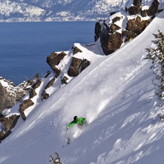 Scenic view and powder at Alpine Meadows