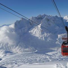 """Die schönsten Skisafaris - Hotspot 4: """"Ride Along"""" Oberstdorf-Lenzerheide - ©LZTG / Sepp Mallaun"""