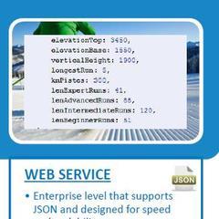De JSON Web Service van Mountain News Corporation (Skiinfo/OnTheSnow) integreert sneeuwrapporten, skigebiedsinformatie, webcams en weersgegevens van over de hele wereld voor nieuwsmedia en websites met veel traffic.