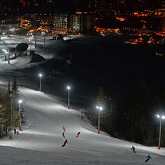 Skiers and riders loving the new night skiing.