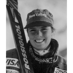 Street visits Sun Valley in 1994 for the naming of her run, Picabo's Street.