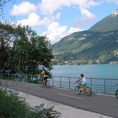 Cycling around Lake Annecy, Rhone Alpes