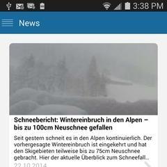 App: News Übersicht auf Android - ©Skiinfo