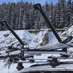 OnTheSnow's test of Thule's 6-ski roof rack.  - ©Nick Jones