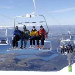 Treble Cone NZ quad chairlift