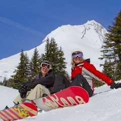 Mt Hood Meadows OR boarders (Richard Hallman)