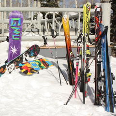 Travel with skis or hire equipment on the slopes?