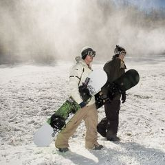 Sugar mountain snowboarders