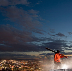 Day or night, great skiing and riding is so accessible from Salt Lake City. Photo Courtesy of Visit Salt Lake.