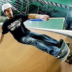 Seth skates at the antigravity complex at Sugarloaf Resort