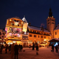 Megeve village at Christmas.