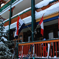 Silver Star village sports colorful architecture. Photo by Becky Lomax.