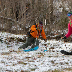 By early November, the snowfall from October had all but melted away and skiers were back to happily making the most of what the fall season usually offers-- thin cover.