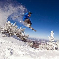 Freeskier at Smugglers Notch