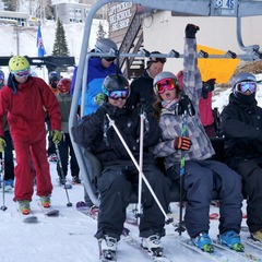 Alta kicked off their 75th ski season on Friday Nov. 16. Pro skier Rachael Burks was so dedicated that she caught first chair at Snowbird on Thursday AND Alta on Friday.