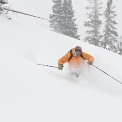 Billy Rankin getting early season powder turns in 2012 at Irwin