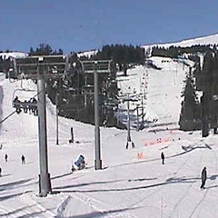 Mt Hood Meadows had blue skies by the end of opening weekend. Webcam photo courtesy of Mt. Hood Meadows.