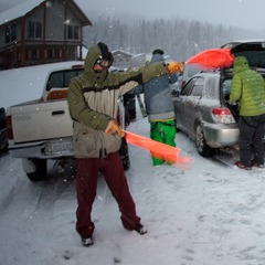 Wolf Creek Parking Lot on Opening Day