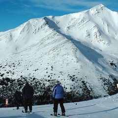 Top of Canadian Rockies Express at Marmot Basin. Photo by Becky Lomax.