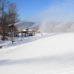 Snowmaking at Timberline Resort. Photo Courtesy of  Timberline Four Seasons.