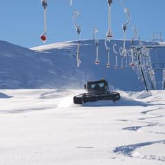 Snowmachines in action in Artesina-Mondolè Ski. Dec. 2, 2012