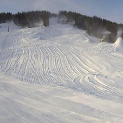 Powder on the slopes of Serre Che. Dec. 14, 2012