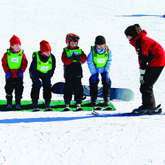 Children in a group lesson at The Homestead. Photo Courtesy of The Homestead Ski Area.
