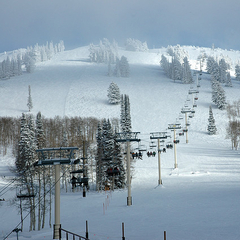 Grand Targhee as the clouds clear. Photo by Fullmer Cole/Flickr. - ©Fullmer Cole/Flickr