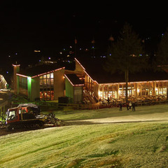 The Sugar Mountain Lodge at night. Photo Courtesy of Sugar Mountain Ski Area.