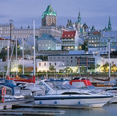 Quebec City offers old-world charm within 40 minutes of world-class skiing.
