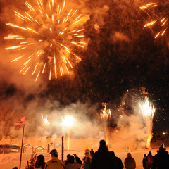 Feux d'artifices de la Saint Sylvestre  La Plagne