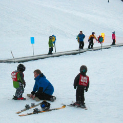 Beginner carpet at Crystal Mountain Resort in Washington. Photo by Becky Lomax.