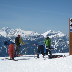 At the start of Revelstoke's biggest vertical
