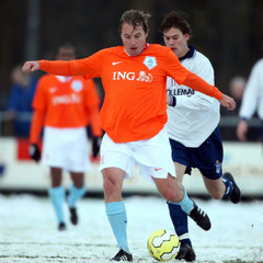 Dutch footballer Rob Witschge during Arosa IceSnow Football 2012
