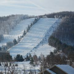 Crisp winter morning at a freshly groomed Wisp. Photo Courtesy of Wisp Resort.