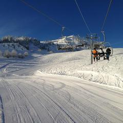 Point neige dans le Jura (17/01/2013)