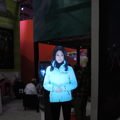 3M used hologram technology to demonstrate some of their latest technology. We're hoping Tupac makes an appearance at the show this weekend in hologram form.