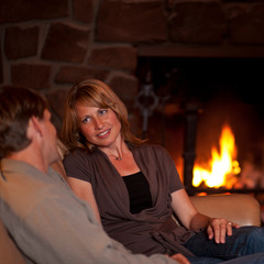 Spending a quiet and romantic evening is what Valentine's day at Lutsen is all about.